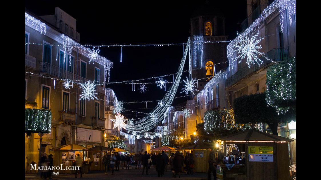 Natale a teggiano illuminazione natalizia mariano light